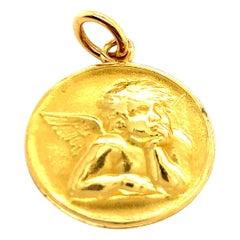 Antique Gold Cartier Angel Charm