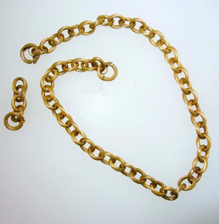 Victorian Antique Gold Chain, circa 1885 For Sale