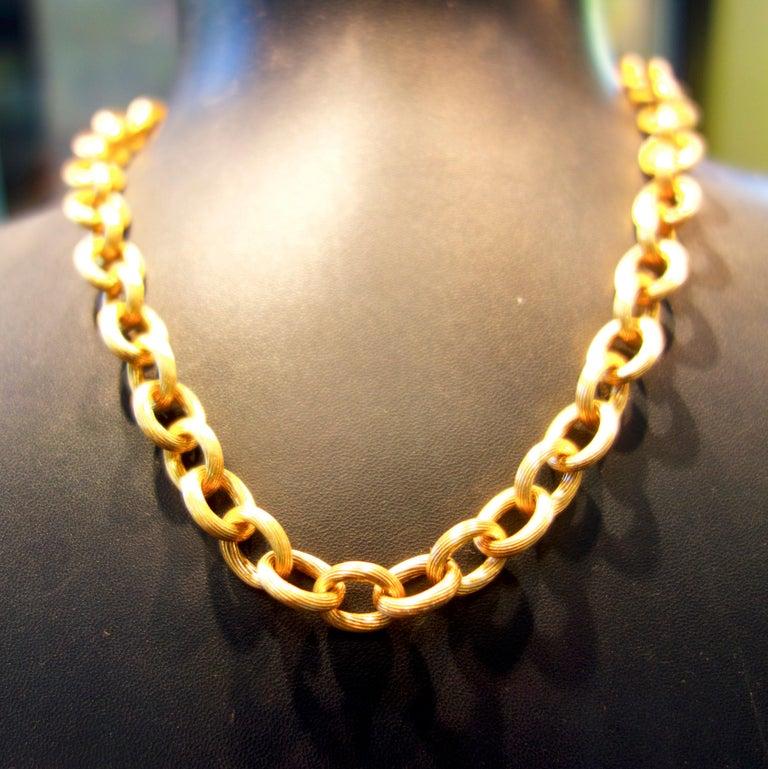 Antique Gold Chain, circa 1885 For Sale 1