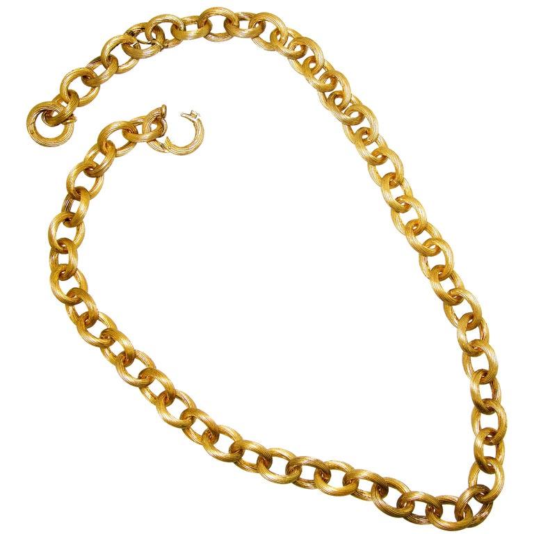 Antique Gold Chain, circa 1885 For Sale