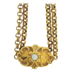 Antique Gold-Fill Long Chain with 14 Karat Slide
