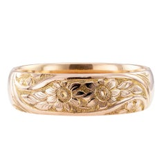 Antique Gold Filled Hinged Bangle Bracelet