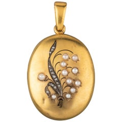 Antique Gold French Locket