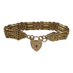 Antique Gold Gate Bracelet, Circa 1900s, Stamped 9ct