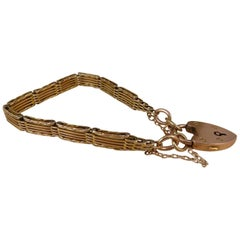 Antique Gold Gate Bracelet, Victorian, circa 1900