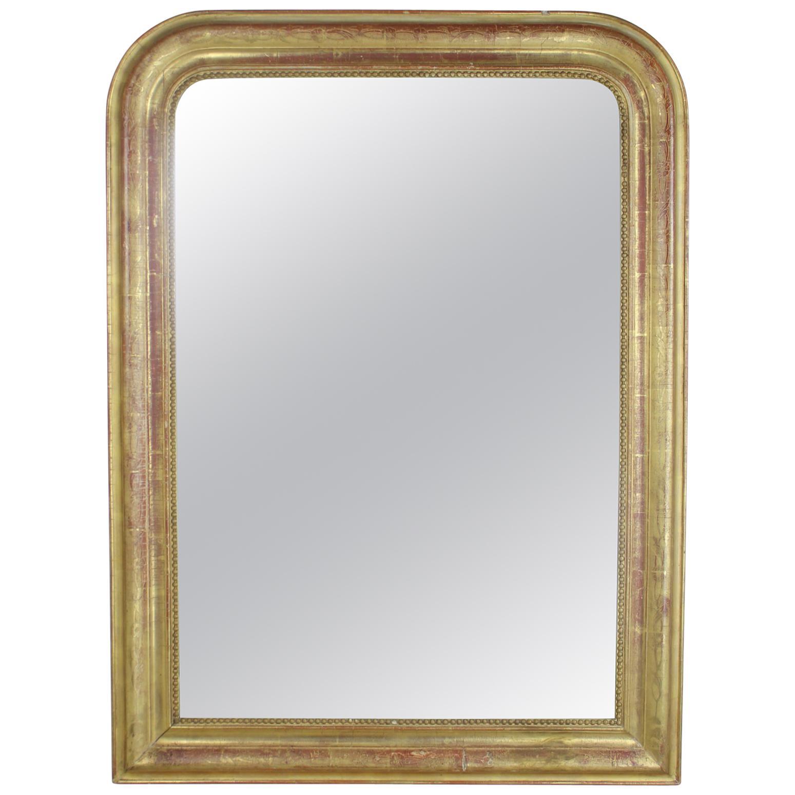 Antique Gold Gilt Louis Philippe Mirror