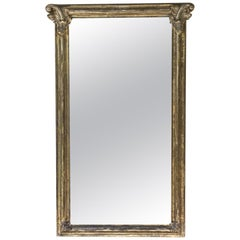 Antique Gold Leaf  Wood Mirror