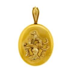 Antikes Gold Medaillon