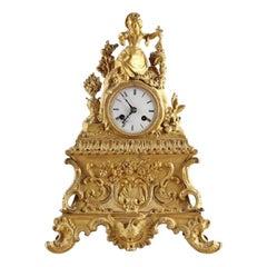 Antique gold Mantel Clock, circa 1910