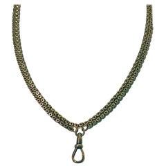 Antique Gold Necklace Chain English, circa 1890