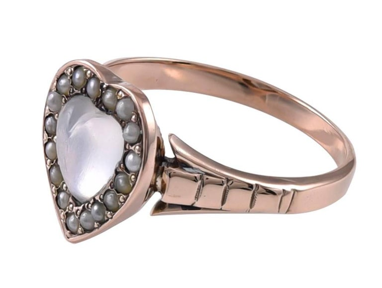 Very lovely ring -- a figural moonstone