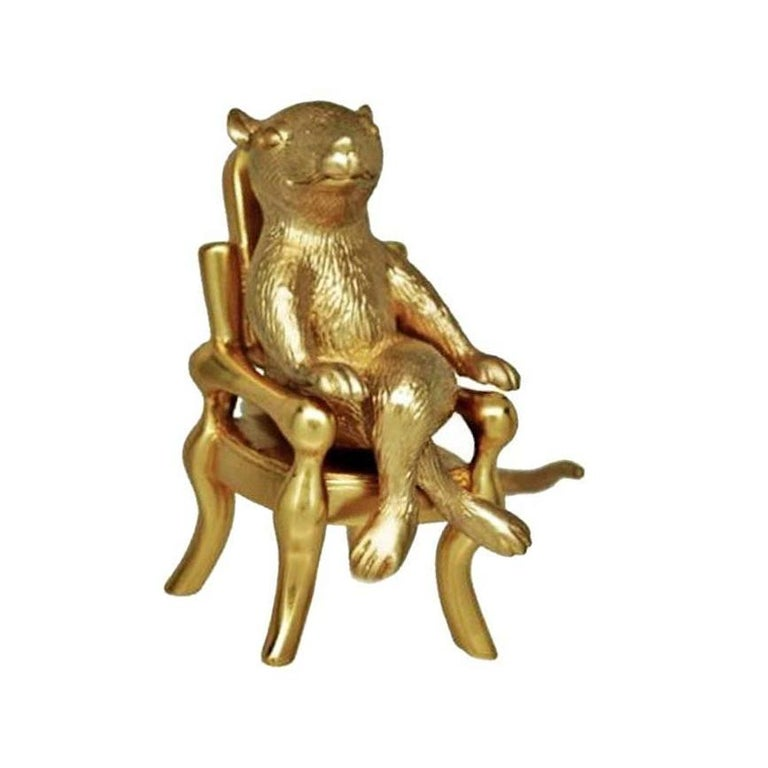 Contemporary Antique Gold-Plated Bronze