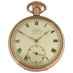 Antique Gold-Plated Dennison Case Swiss Hand Winding Pocket Watch