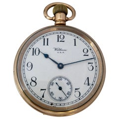Antique Gold-Plated Dennison Case Waltham U.S.A Hand-Winding Pocket Watch
