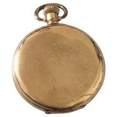 Antique Gold-Plated Full Hunter Dennison Case Pocket Watch