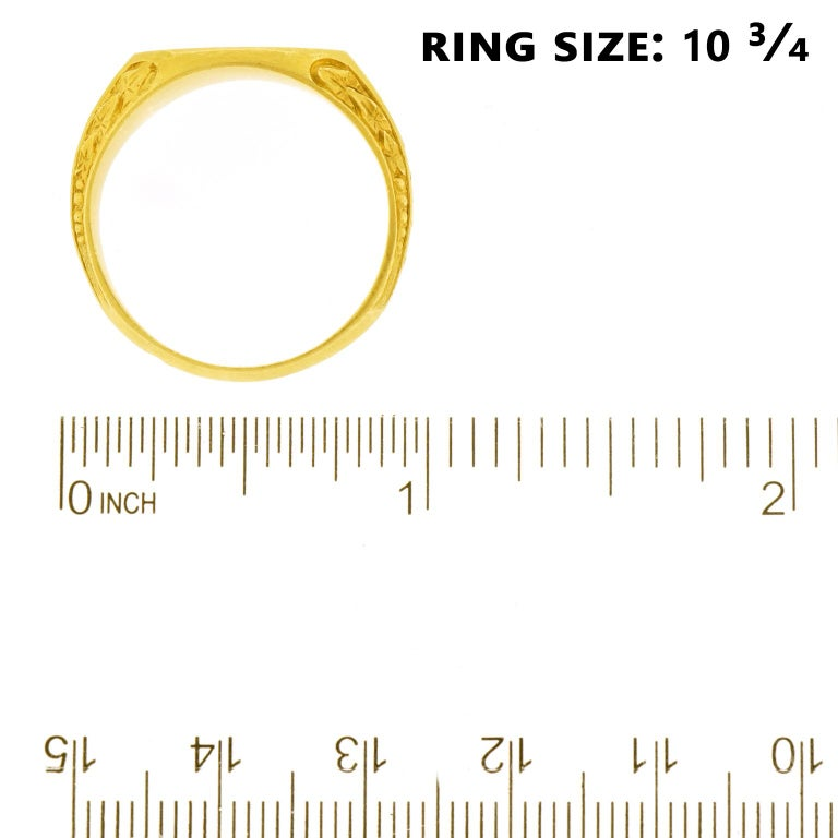 Antique Gold Signet Ring For Sale 1