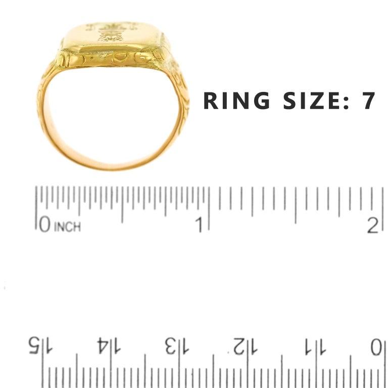 Antique Gold Signet Ring For Sale 2