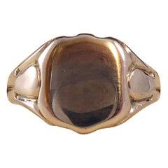 Antique Gold Signet Ring, Rose Gold, Hallmarked 1916