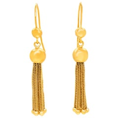 Antique Gold Tassel Earrings