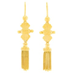 Antique Gold Tassel Earrings