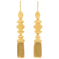 Antique Gold Tassle Earrings