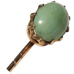 Antique Gold Turquoise Stick Pin 10 Karat