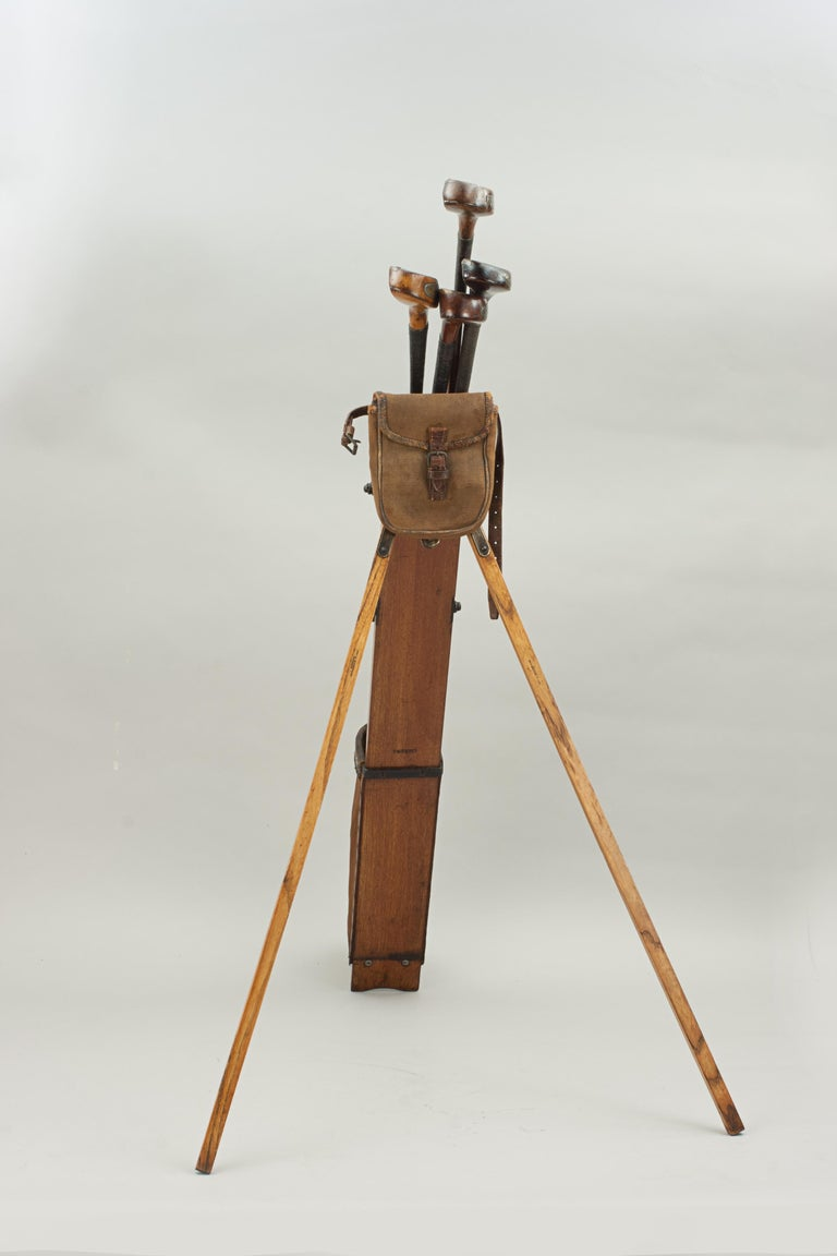 Antique Golf Bag, Automaton Caddy by Bussey For Sale 6