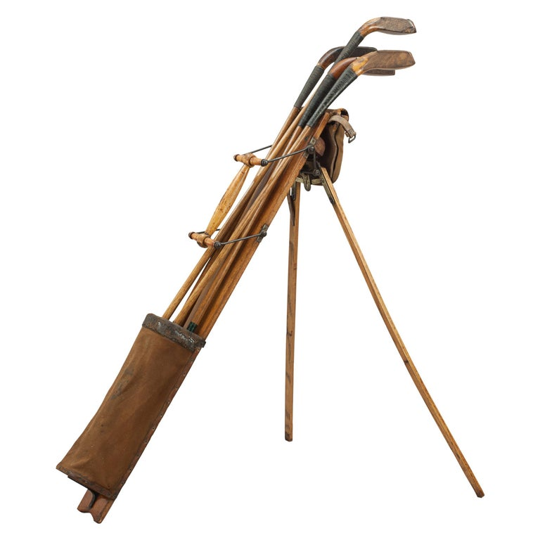 Antique Golf Bag, Automaton Caddy by Bussey For Sale