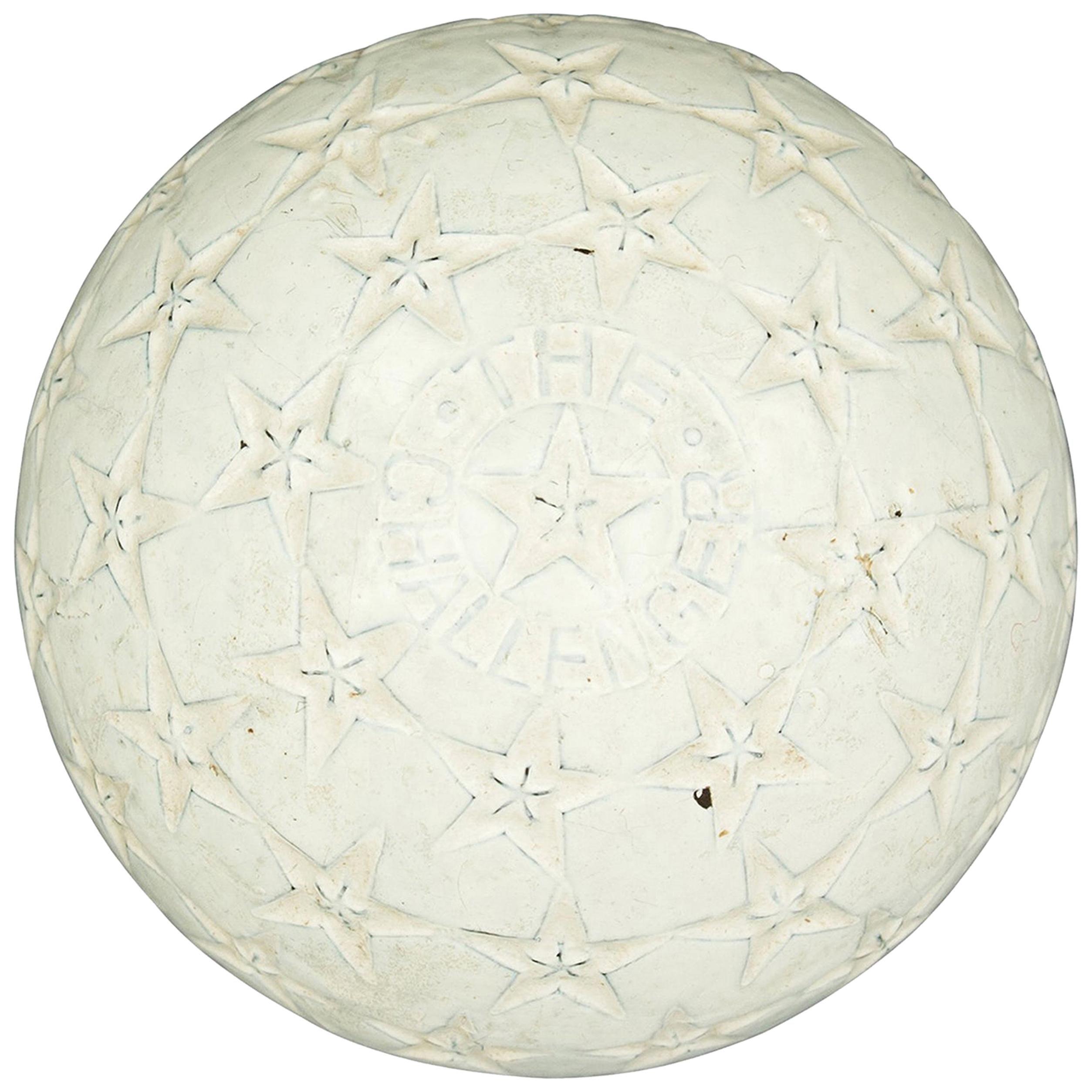 Antique Golf Ball Star Challenger, Rubber Core, Star Design Pattern