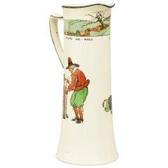 Antique Golf Jug. Royal Doulton Series Ware Golf Jug, Charles Crombie