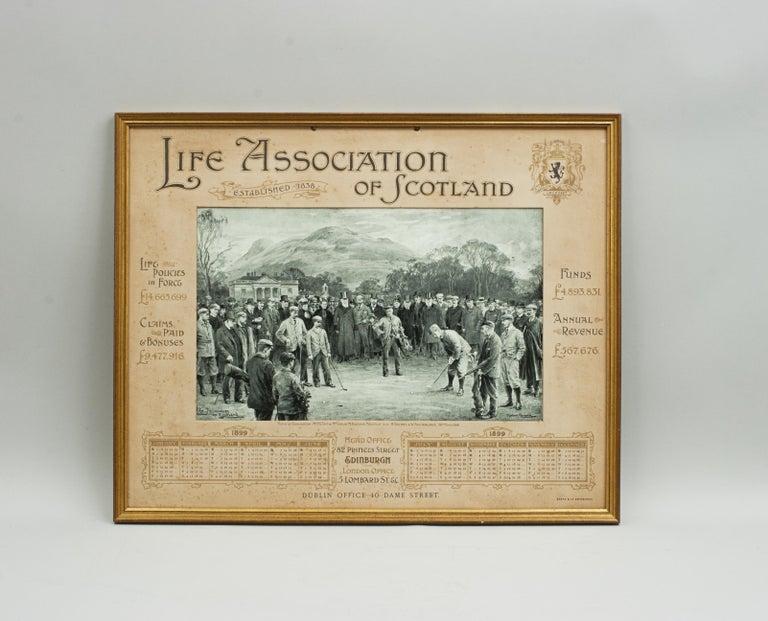Antique Golf Print, Duddingston, Life Association of Scotland, Michael Brown For Sale 5