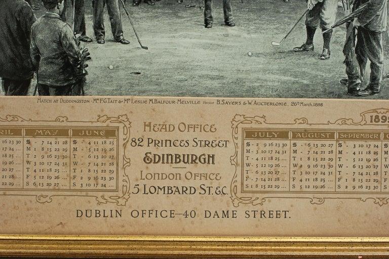 Paper Antique Golf Print, Duddingston, Life Association of Scotland, Michael Brown For Sale