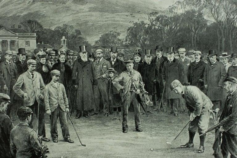 Antique Golf Print, Duddingston, Life Association of Scotland, Michael Brown For Sale 2