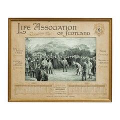 Antique Golf Print, Duddingston, Life Association of Scotland, Michael Brown