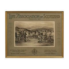 Antique Golf Print, Prestwick, Life Association of Scotland, Michael Brown