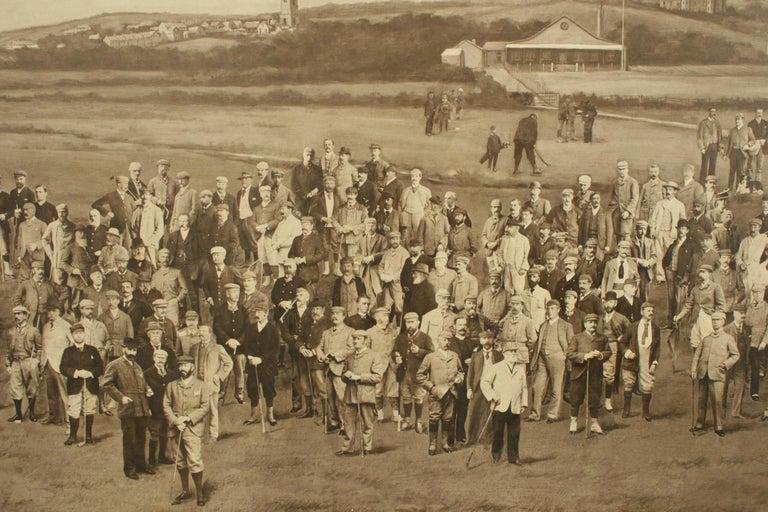 Late 19th Century Antique Golf Print, Royal North Devon Golf Club, Photogravure of Westward Ho For Sale