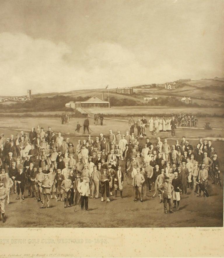 Paper Antique Golf Print, Royal North Devon Golf Club, Photogravure of Westward Ho For Sale