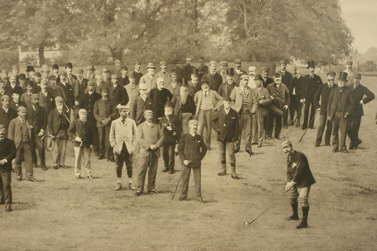 Antique Golf Print, Royal North Devon Golf Club, Photogravure of Westward Ho For Sale 2