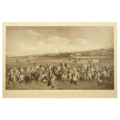 Antique Golf Print, Royal North Devon Golf Club, Photogravure of Westward Ho