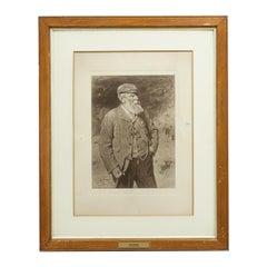 Antique Golf Print, Tom Morris After G.R Reid