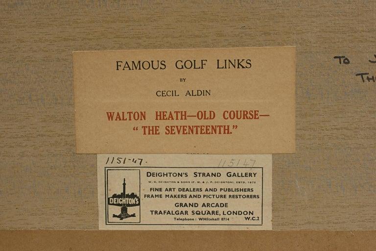 Antique Golf Print, Walton Heath-Old Course, Cecil Aldin In Good Condition For Sale In Oxfordshire, GB