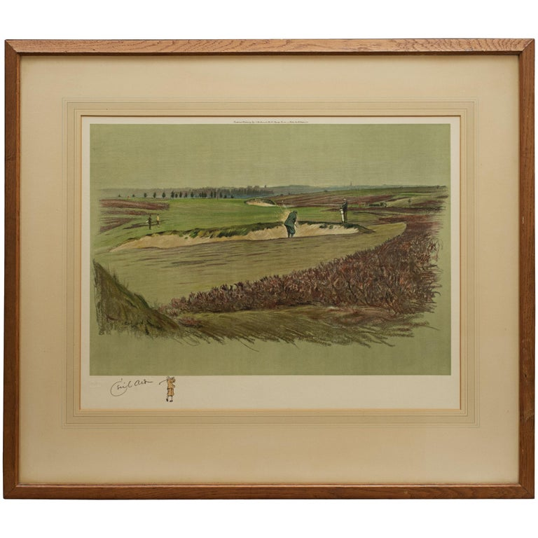 Antique Golf Print, Walton Heath-Old Course, Cecil Aldin For Sale