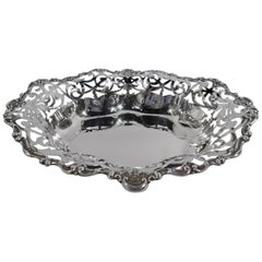Antique Gorham Edwardian Classical Pierced Sterling Silver Bowl