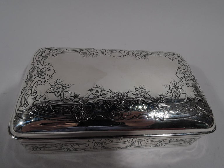 North American Antique Gorham Edwardian Classical Sterling Silver Jewelry Box