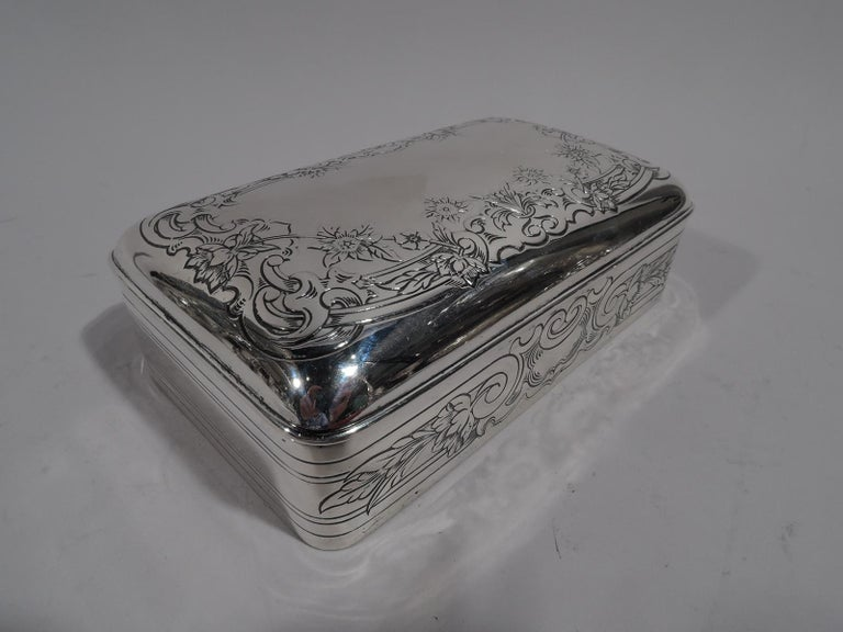 Early 20th Century Antique Gorham Edwardian Classical Sterling Silver Jewelry Box