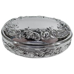 Antique Gorham Edwardian Classical Sterling Silver Trinket Box