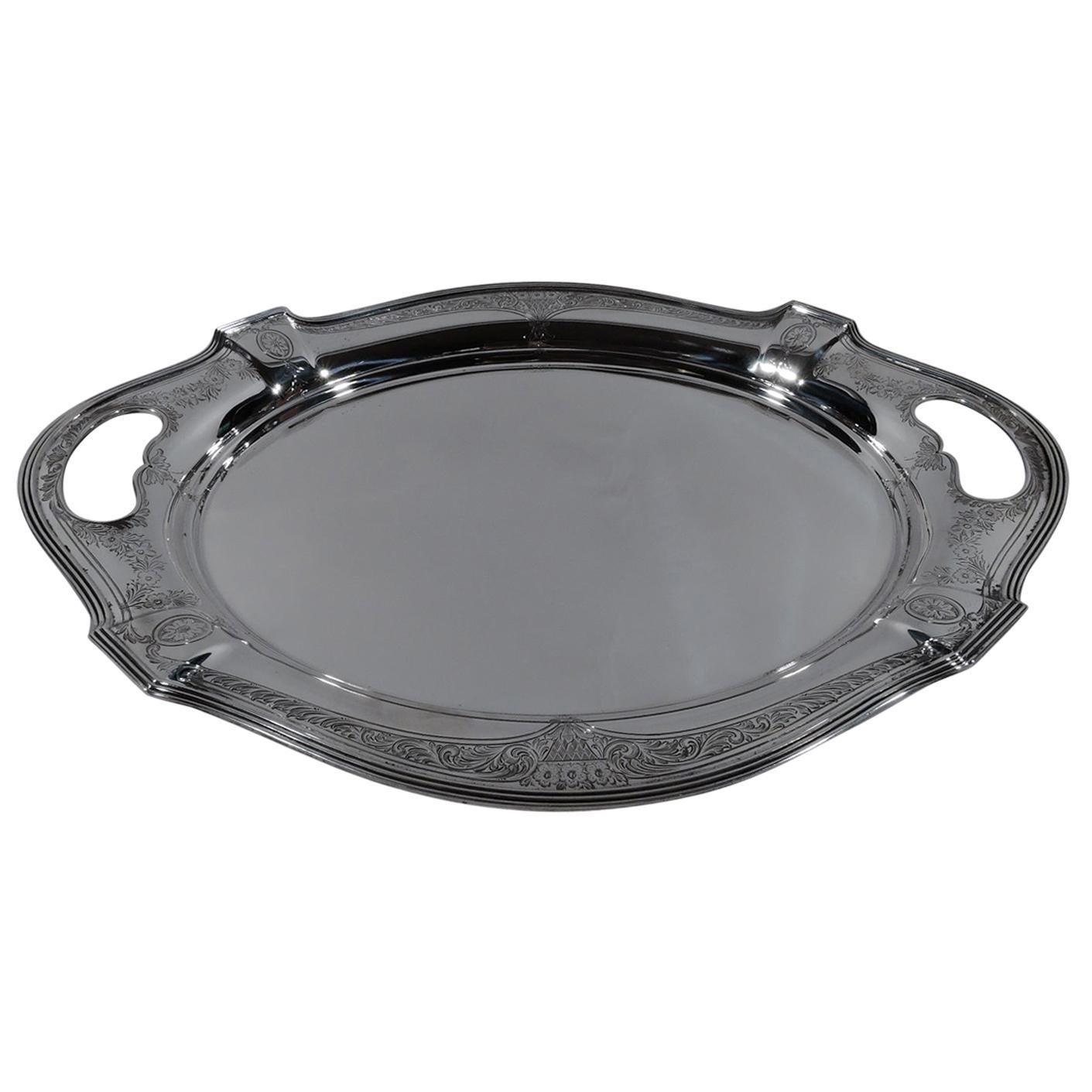 Antique Gorham Edwardian Regency Sterling Silver Platter Tray