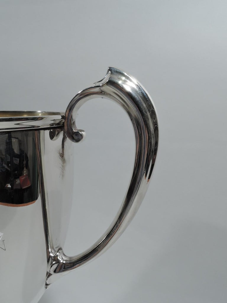 Antique Gorham Edwardian Sterling Silver & Enamel Yacht Trophy Cup For Sale 1