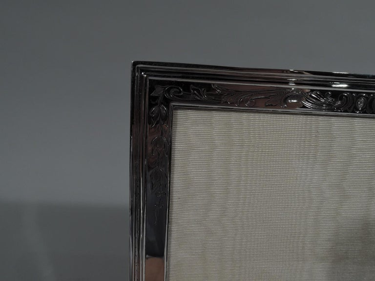 American Antique Gorham Edwardian Sterling Silver Picture Frame For Sale