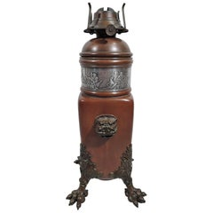 Antique Gorham Japonesque Mixed Metal Copper Lamp Base